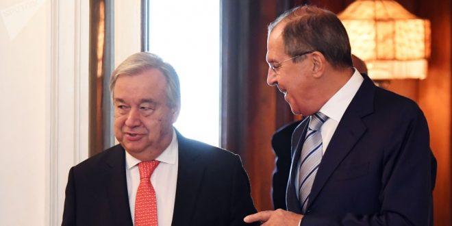 لافروف بحث مع غوتيريش الوضع في سوريا