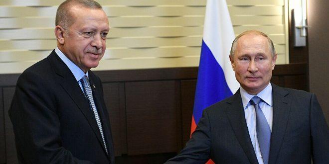 بوتين بحث في اتصال هاتفي مع أردوغان تنفيذ اتفاقات إدلب