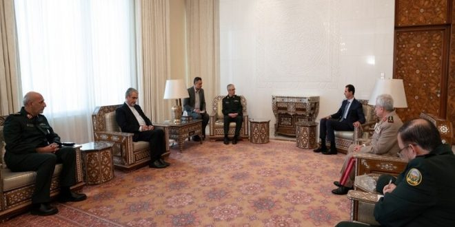 الرئيس الأسد يلتقي اللواء باقري