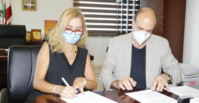 حسن يوقع اتفاقية تعاون مع السفيرة السويسرية لإعادة تأهيل مستشفيي الكرنتينا والروم