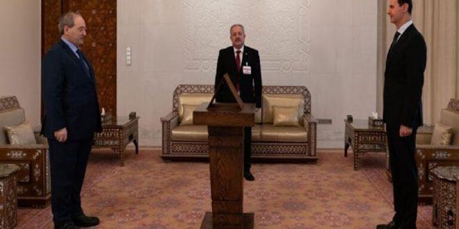المقداد يؤدي اليمين الدستورية وزيرا للخارجية والمغتربين