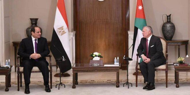 الرئاسة المصرية تعلن تفاصيل لقاء السيسي والملك عبد الله في الأردن