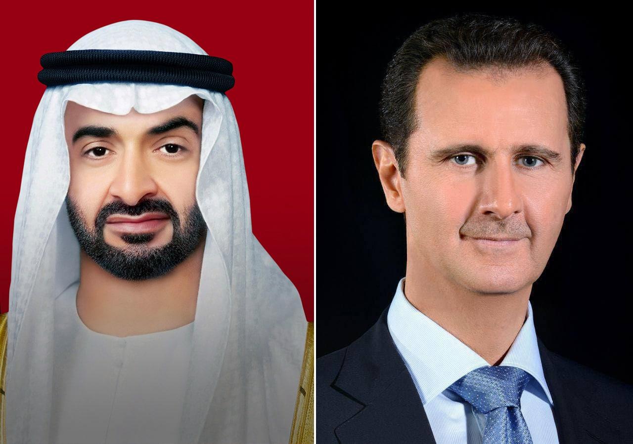 اتصال هاتفي بين الرئيس الأسد والشيخ محمد بن زايد ال نهيان